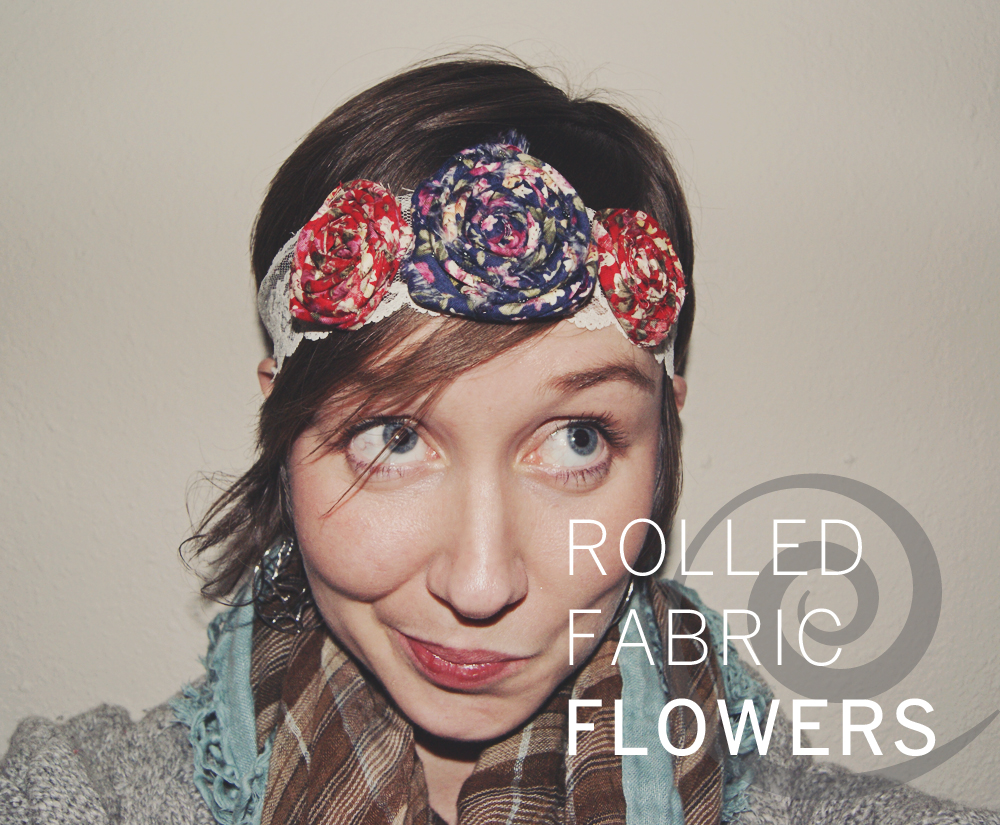 ROLLED FABRIC FLOWERS DIY | WESTOVER MANOR
