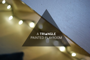 TRIANGLE WALL PAINT / A TUTORIAL