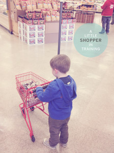 LITTLE SHOPPER IN TRAINING