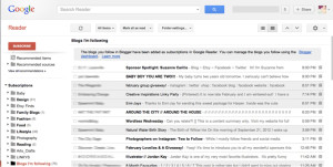 BLOGGING TIPS & TRICKS / GOOGLE READER
