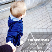 $10 SPONSORSHIPS ON WESTOVER MANOR
