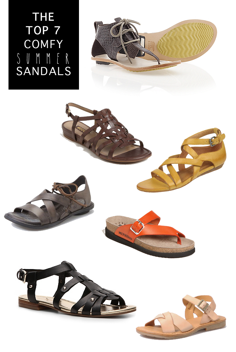 TOP 7 COMFY SUMMER SANDALS