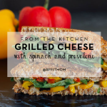 from the kitchen: grilled cheese with spinach and provolone